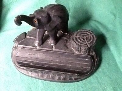 Old Elephant Inkwell and Pen Holder