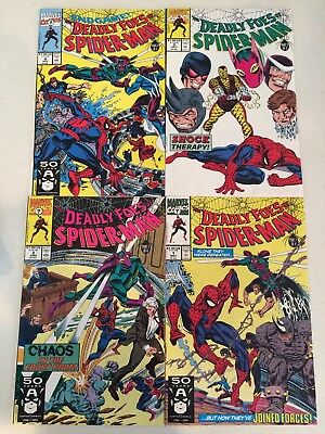 The Deadly Foes of Spider-Man #1-4 VF to NM condition 1991 The Rhino!
