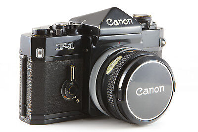Canon F-1 35mm Film SLR Camera With FD 50mm f1.8 Lens