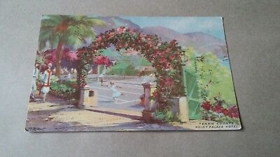 Old Postcard - Reid's Palace Hotel - Tennis Courts -  Funchal - Madeira