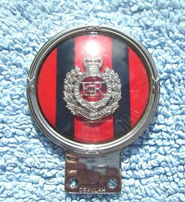 VINTAGE 1960s ROYAL ENGINEERS CAR BAR BADGE-GB ARMY/MILITARY SAPPERS AUTO EMBLEM