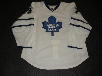 2009-10 Tim Brent Toronto Maple Leafs Game Used Worn Reebok Jersey MeiGray