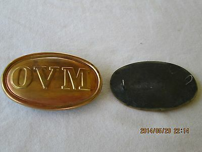Civil War OVM cartridgebox plate