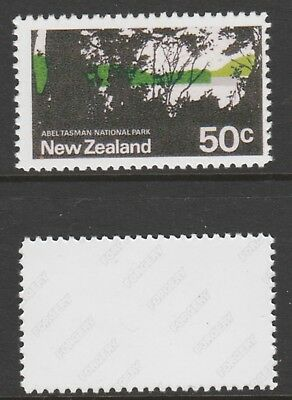 New Zealand 6004 - 1970 National Park BUFF OMITTED - a Maryland FORGERY unused