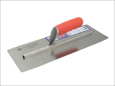 FAITHFULL Pre Worn Plasterers Finishing Trowel Soft-Grip Handle 14 x 5in NEW