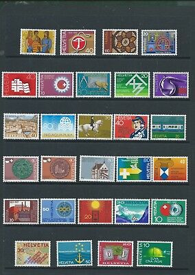 Switzerland Helvetia 1968-1982 28 different unmounted mint stamps in sets MNH
