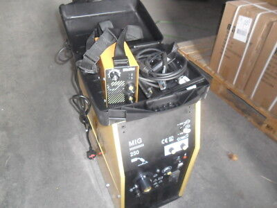 MIG WELDER  250 AMP  NEW BOXED with EURO TORCH 2 year warranty +MMA160