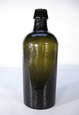 Three Part Mold Nice Green Color Ink Medicine Civil War Age Bottle