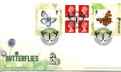 2013 Butterflies Great Britain Self Adhesive Retail Booklet Royal Mail Fdc