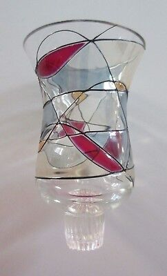 RETIRED Partylite Calypso Stained Glass Mosaic Replacement PEGLITE Peg Lite