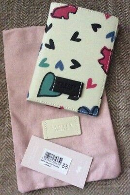 RADLEY Love Me Love My Dog Oil Cloth Passport Holder/Cover With Dust Bag