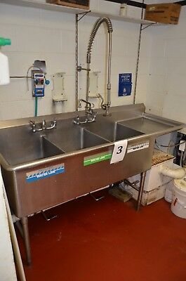 Stainless Steel Sink with Spraying Faucet, PSU