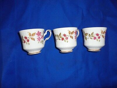 "3 Royal Stafford ""Fragrance"" Bone China Tea Cups"
