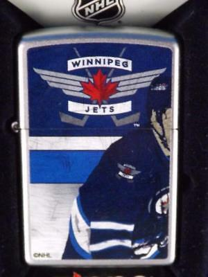 Zippo Lighter Winnipeg Jets Nhl Hockey 2012  Sealed Fan Souvenir Collector