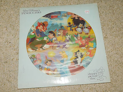 Vintage 1980 Walt Disney Pinocchio Picture Disk Movie Soundtrack Lp