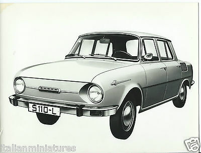 Skoda S110 L Original Press Photograph Circa 1969