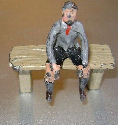 Lead boy on bench