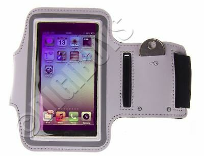 White A-Sports Adjustable ARMBAND for iPhone 5/5S Gym Case Pouch Jogging Running