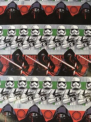 Disney STAR WARS Christmas Gift Wrapping Paper 70 sq ft roll Kylo Ren Wrap & DISNEY STAR WARS Christmas Gift Wrapping Paper 70 sq ft roll Kylo ...