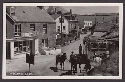 Postcard Mortehoe near Ilfracombe Devon posted 1958 horses cafe RP Chapman 25051