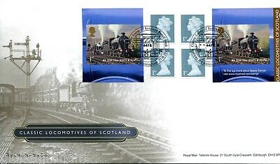 2012 Scotland Locos Great Britain Self Adhesive Retail Booklet Royal Mail Fdc