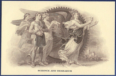 VINTAGE AMERICAN BANK NOTE Co. ENGRAVING: SCIENCE & RESEARCH