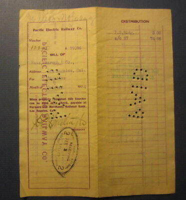 1904 Pacific Electric RAILWAY Document - SIGNED by President HENRY HUNTINGTON
