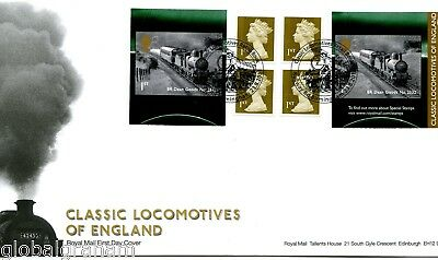 2011 Steam Locomotives Great Britain Self Adhesive Retail Booklet Royal Mail Fdc