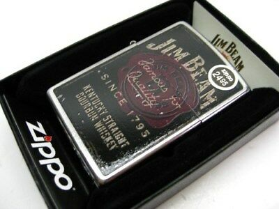 Zippo Street Chrome Jim Beam Famous For Quality Windproof Lighter 28841
