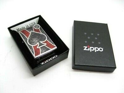Zippo Full Size High Polish Chrome Fusion Spade Classic Windproof Lighter 28952
