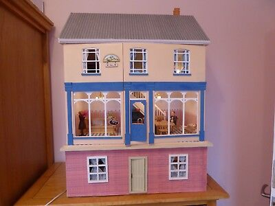 Dolls House Shop and basement fully lit