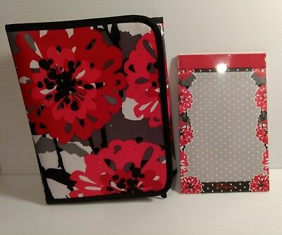 NEW 31 GIFTS Thirty One FOLD IT UP ORGANIZER Bold Blooms NOTE PAD Tablet Holder