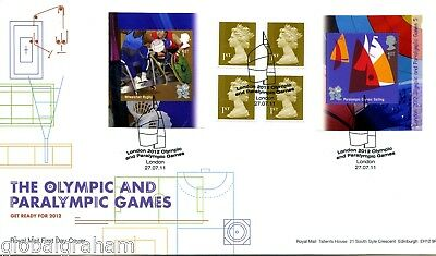 2011 Paralympics Great Britain Self Adhesive Retail Booklet Royal Mail  Fdc