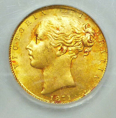 Great Britain Gold Sovereign 1871 Choice Brilliant Uncirculated