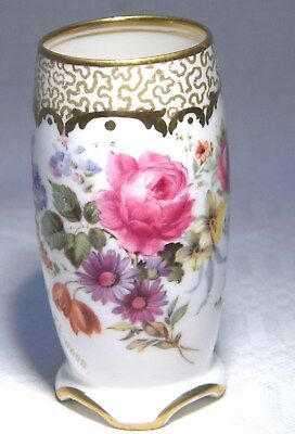 Royal Doulton Miniature Floral Vase Signed