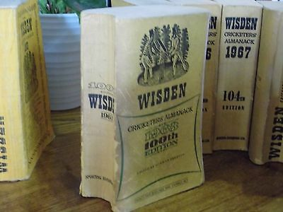 Wisden Cricketers' Almanack 1963 linen covered edition  GOOD