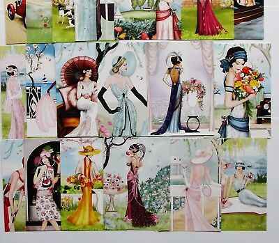 Hunkydory Little Book of Delightful Deco Shimmer Card Toppers x 24 Sheets Pearl