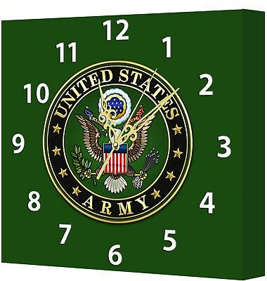 LIGHTED US Army Memorabilia Clock