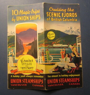 Old c.1940 - UNION Steamship Brochure - British Columbia - SS CATALA / CARDENA