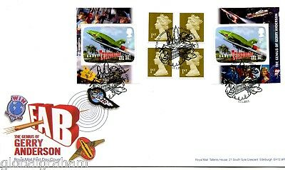 2011 Thunderbirds Great Britain Self Adhesive Retail Booklet Royal Mail Fdc