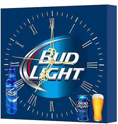 LIGHTED Bud LIGHT Bar Clock