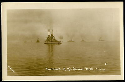 WW1. SURRENDER OF THE GERMAN FLEET in the Firth of Forth, 21 November 1918 RP