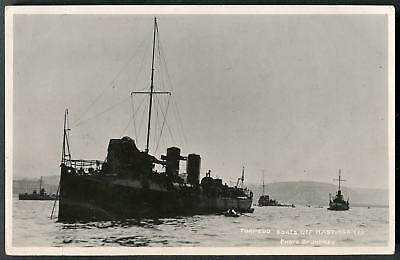 TORPEDO BOATS off HASTING. Early JUDGES  photo, (pre-Limited Company). c1909 RP