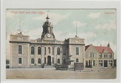 Inverurie Town Hall & Post Office Postmarked Inverurie 1905 M Wane Edinburgh