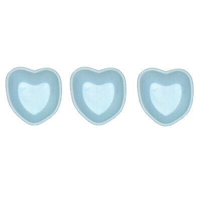 Set of 3 Mini Silicone Baking Pan Heart Blue Cake CupCake Shape Muffin Children
