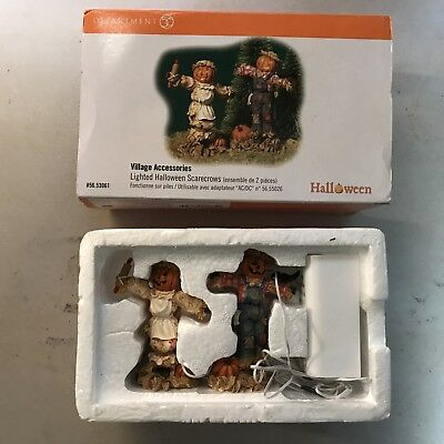 Dept 56 Lighted Halloween Scarecrows/Village Accessory (53061)