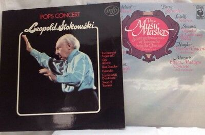 2 Classical Lp's Pop Concert, Leopoldo Stokowski,mpf2145. The Music Masters Spr9