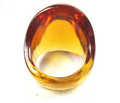 Lalique Glas Ring Vintage Designer glass France Modernist Boho Blogger  pN5