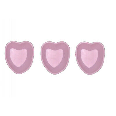 Set of 3 Mini Silicone Baking Pan Heart Pink Cake CupCake Shape Muffin Children
