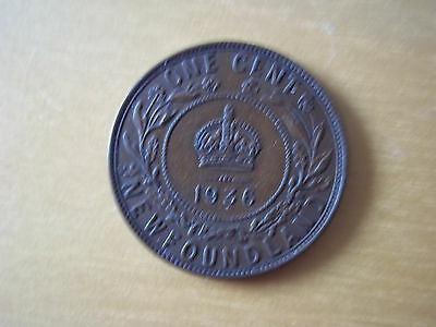 One Cent Newfoundland 1936 -George V - Coin -